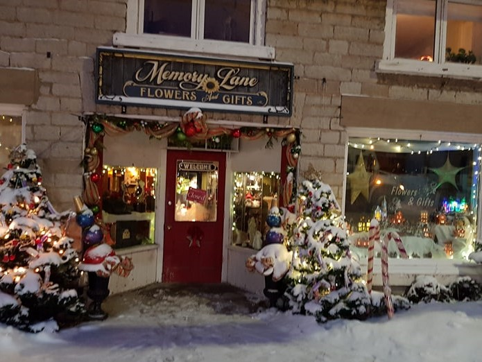 beautiful Winter shop front