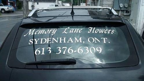 Memory Lane Flowers delivery van